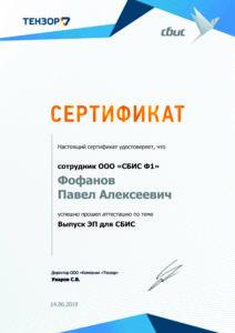 Фофанов Выпуск ЭП